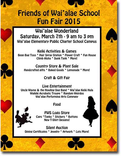 Wai'alae School Fun Fair 2015 - Kaimuki - Honolulu, Hawaii News