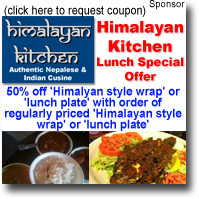 Himalayan Kitchen Holiday Specials Kaimuki Catering Special 10 Off 10 Off Dine In Take