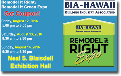 Bia Remodel It Right Expo 2016 Neal S Blaisdell Center Coupon Discount Kaimuki