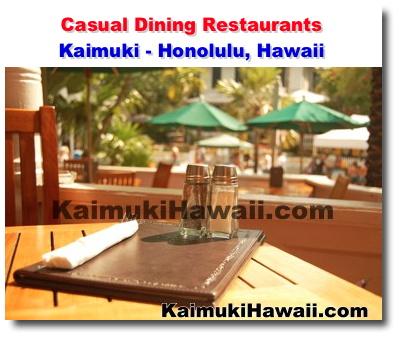 Casual Dining Restaurants Kaimuki Honolulu Hawaii