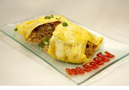 how to make a rice omelette