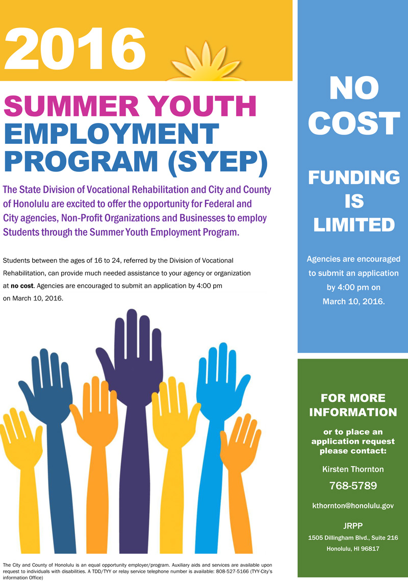Summer youth pay dates