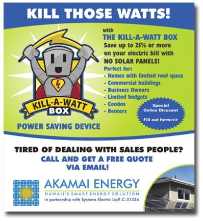 Akamai Energy Kill A Watt Box Electricity Coupon And