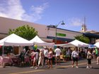 Lots of booths at the Kaimuki Craft Fair and Street Festival along Waialae Ave.