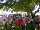 Kaimuki residents and visitors alike enjoying the Craft Fair