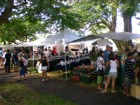 Kaimuki shoppers and visitors supporting local businesses at the Craft Fair