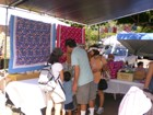 Families come out to enjoy the lovely day in Kaimuki