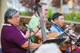 Legacy - Darryl Loo, John Flynn and Steven Hirabara (left to right) entertained guests before the program started