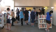 Kaimuki residents check out the Kaimuki Library Book Sale