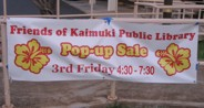 Friends of the Kaimuki Library's Pop-up sale during Third Fridays Kaimuki