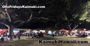 Great turnout at Ono Fridays Kaimuki to support the Kaimuki Bulldogs Football Team