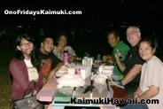 Enjoying good food and great company at Ono Fridays Kaimuki
